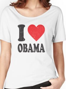 I Love Obama Retro Shirt Women's Relaxed Fit T-Shirt