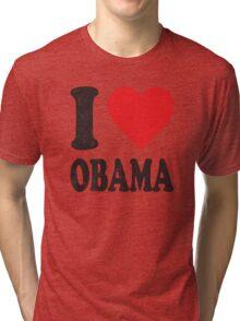 I Love Obama Retro Shirt Tri-blend T-Shirt