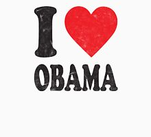 I Love Obama Retro Shirt Womens Fitted T-Shirt