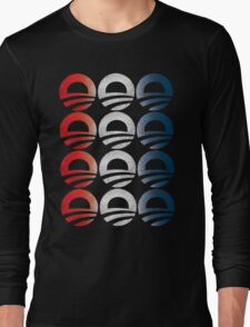 Red White and Blue Obama Logo Shirt Long Sleeve T-Shirt