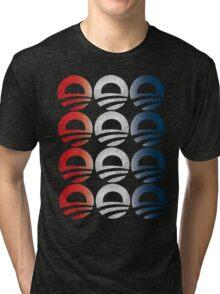 Red White and Blue Obama Logo Shirt Tri-blend T-Shirt
