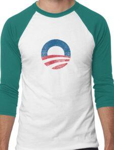 Retro Obama Logo Shirt Men's Baseball ¾ T-Shirt