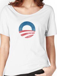 Retro Obama Logo Shirt Women's Relaxed Fit T-Shirt