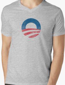 Retro Obama Logo Shirt Mens V-Neck T-Shirt