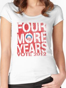Obama Four More Years 2012 Shirt Women's Fitted Scoop T-Shirt