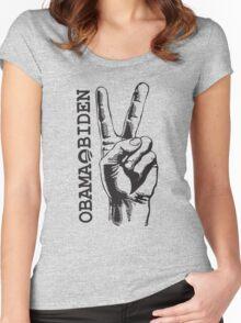 Obama Biden 2012 Peace Shirt Women's Fitted Scoop T-Shirt