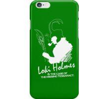 Loki Holmes (white) iPhone Case/Skin