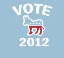 Vote Democrat 2012 T Shirt Kids Tee