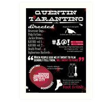Quentin Tarantino infographic Art Print