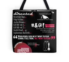 Quentin Tarantino infographic Tote Bag