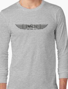 Waco Aircraft Company Logo (Black) Long Sleeve T-Shirt