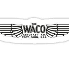 Waco Aircraft Company Logo (Black) Sticker