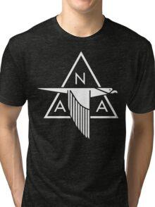 North American Aviation Logo (White) Tri-blend T-Shirt