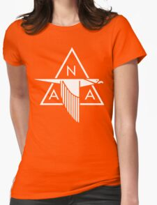 North American Aviation Logo (White) Womens Fitted T-Shirt