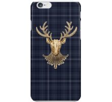 Drums of Autumn Inspired Plaid w Gold Stag iPhone Case/Skin