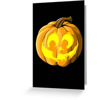 Halloween Jack O Lantern card  Greeting Card