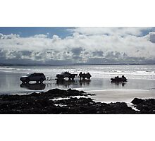 Fishing at Waipu Beach Photographic Print