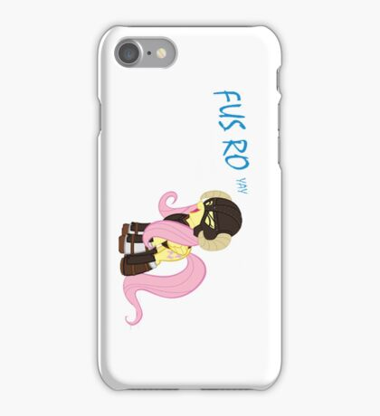 Fus Roh Yay (White) iPhone Case/Skin