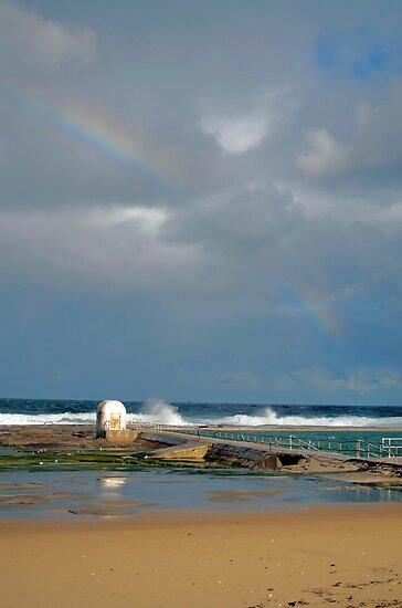 Rainbow over baths by Sherilyn Hawley