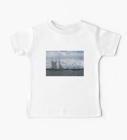 Tall Ships Sailing in the Harbor Baby Tee