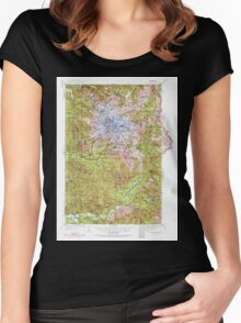 USGS Topo Map Washington State WA Mt Rainier 242666 1924 125000 Women's Fitted Scoop T-Shirt