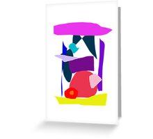 Time Curiosity Elegant Square Fruit Echo Greeting Card