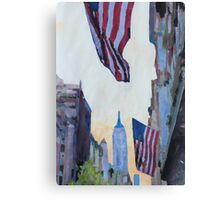 New York City - Manhattan Stars and Stripes Canvas Print