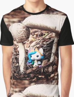 MLP CHIBI PRINCESS CELESTIA UNDER MUSHROOM Graphic T-Shirt
