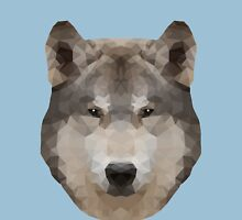 Low Poly Wolf Head Unisex T-Shirt