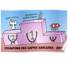 caricature des champions des gaffes bancaires 2012 Poster