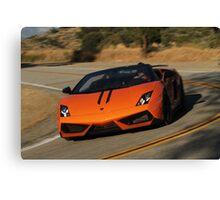 Lamborghini Gallardo LP570-4 Spyder Performante - Cornering Canvas Print