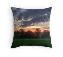 Sunrise In West Virginia Throw Pillow