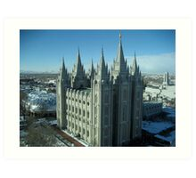 Salt Lake City Temple Art Print