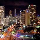 Surfers Paradise at Night by Andrejs Jaudzems