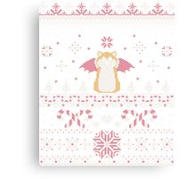 Ugly Holiday Sweater (Pink) Canvas Print