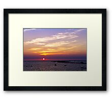 Sunset in Reigi Framed Print