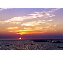 Sunset in Reigi Photographic Print