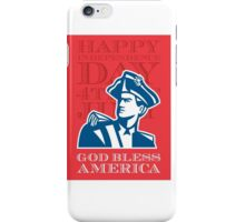 Independence Day Greeting Card-American Patriot Soldier Bust iPhone Case/Skin