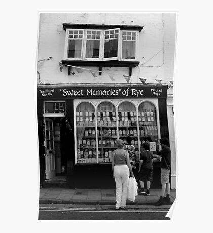 Rye, East Sussex - Sweet Shop Poster