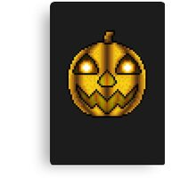 Five Nights at Freddys 4 - Chica's Halloween Pumpkin - Pixel art Canvas Print