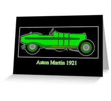 Aston Martin 5 GP 1921 Greeting Card