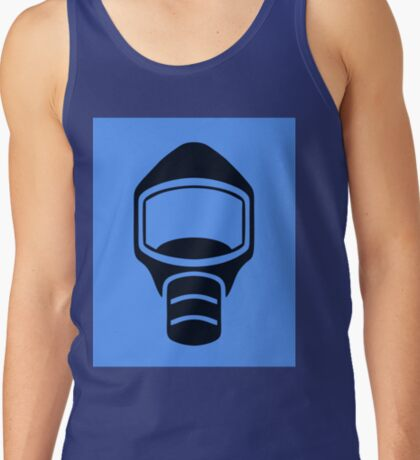 Emergency Escape Mask (or Smoke Hood, or Gas Mask) Sign Tank Top