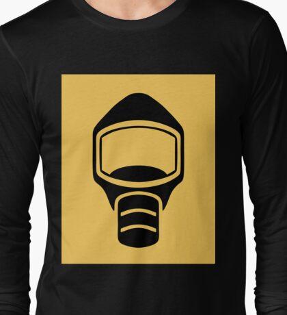 Emergency Escape Mask (or Smoke Hood, or Gas Mask) Sign Long Sleeve T-Shirt