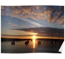 Harbour sunrise 2012 Poster
