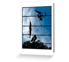 Skyboat Silhouette Greeting Card
