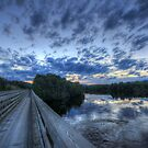 Dusk at the Abol Bridge by Lori Deiter