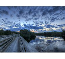Dusk at the Abol Bridge Photographic Print