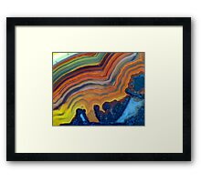 Waves (Lace Agate) Framed Print