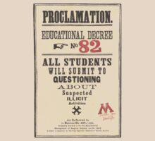 Umbridge Proclomation number 82 by holmes4potter