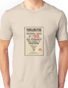 Umbridge Proclomation number 82 Unisex T-Shirt
